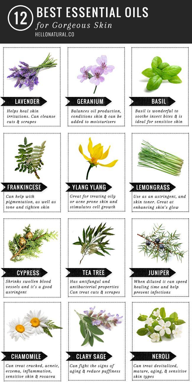 Top 12 essential oils for skincare
