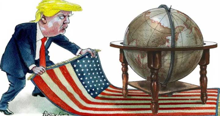 Trump flirts with the idea of abandoning global rules-based order that America built after the end of the second world war