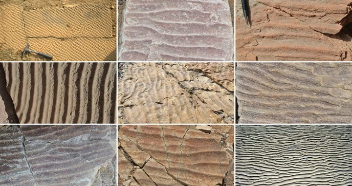 MIT researchers have found that patterns of ripples created in sand, and preserved for thousands to millions of years, can reveal clues to ancient environments. Image courtesy of the researchers