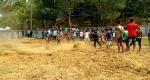 লামায় খেলার মাঠে স্কুল নির্মাণে এলাকাবাসীর বিক্ষোভ