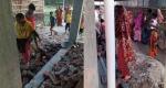 সাপাহারে নব-নির্মিত ভবনের পানির লাইন ও ওয়াল নির্মাণ ভেঙ্গে ফেলার অভিযোগ