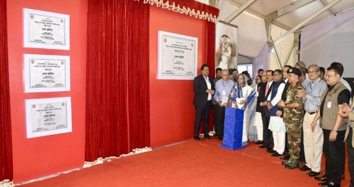 বৃহস্পতিবার প্রধানমন্ত্রী শেখ হাসিনা বঙ্গবন্ধু শেখ মুজিব মেডিকেল বিশ্ববিদ্যালয়ের সুপার স্পেশালাইজড হাতপাতালের  ভিত্তিপ্রস্তর স্থাপন করেন-এবিনিউজ