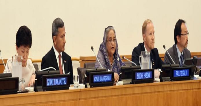 প্রধানমন্ত্রী শেখ হাসিনা নিউউয়র্কে জাতিসংঘ সদর দপ্তরে জাতিসংঘের স্থায়ী মিশন, বাংলাদেশ এবং UNODA-এর উদ্যোগে Cyber Security and International Cooperation শীর্ষক উচ্চ পর্যায়ের আলোচনা সভায় বক্তৃতা করেন-এবিনিউজ