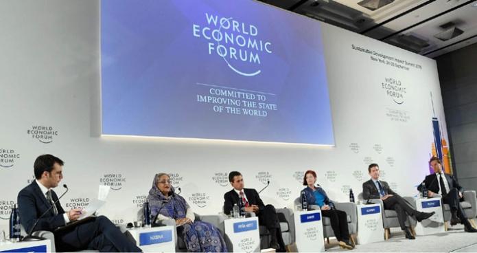 প্রধানমন্ত্রী শেখ হাসিনা জাতিসংঘ সদরদপ্তরে প্ল্যানারি হলে Sustainable Development in the Four th Industrial Revolution শীর্ষক WEF Plenary Session এ বক্ততৃা করেন-এবিনিউজ