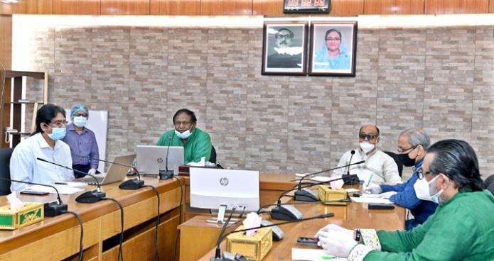 বুধবার বাণিজ্যমন্ত্রী টিপু মুনশি মন্ত্রণালয়ের সভাকক্ষে অনলাইনে বাণিজ্য সহায়ক পরামর্শক কমিটির ৭ম সভায় সভাপতিত্ব করেন -পিআইডি
