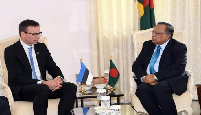 রবিবার ঢাকায় পররাষ্ট্রমন্ত্রী আবুল হাসান মাহমুদ আলীর সাথে রাষ্ট্রীয় অতিথি ভবনে এস্তোনিয়ার পররাষ্ট্রমন্ত্রী 'ইসভেন মিকচার, সাক্ষাৎ করেন