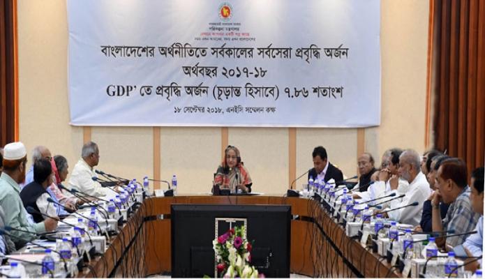 মঙ্গলবার ঢাকায় প্রধানমন্ত্রী শেখ হাসিনা শেরেবাংলা নগরে এনইসি সস্মেলনকক্ষে জাতীয়  অর্থনৈতিক পরিষদের নির্বাহী কমিটি(একনেক) এর সভায় সভাপতিত্ব করেন-এবিনিউজ