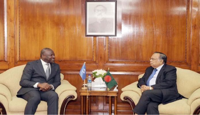 পররাষ্ট্রমন্ত্রী আবুল হাসান মাহমুদ আলীর সাথে মন্ত্রণালয়ের অফিসকক্ষে The Comprehensive Nuclear Test Ban Treaty Organization এর Executiv  Secretary Dr. Lasaina Zerbo সাক্ষাৎ করেন-এবিনিউজ