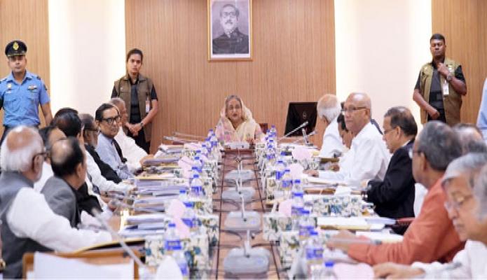 সোমবার প্রধানমন্ত্রী শেখ হাসিনা বাংলাদেশ সচিবালয়ে মন্ত্রিপরিষদ বৈঠকে সভাপতিত্ব করেন-এবিনিউজ