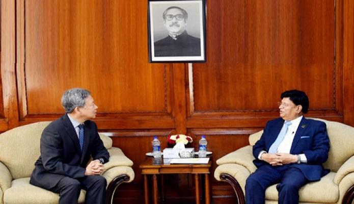 মঙ্গলবার পররাষ্ট্রমন্ত্রী এ কে আব্দুল মোমেনের সাথে মন্ত্রণালয়ের অফিসকক্ষে কোরিয়ার রাষ্ট্রদূত HU kang-LL সাক্ষাৎ করেন -পিআইডি