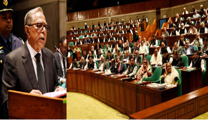 বুধবার রাষ্ট্রপতি মোঃ আবদুল হামিদ একাদশ জাতীয় সংসদের প্রথম অধিবেশনে ভাষণ দেন -পিআইডি