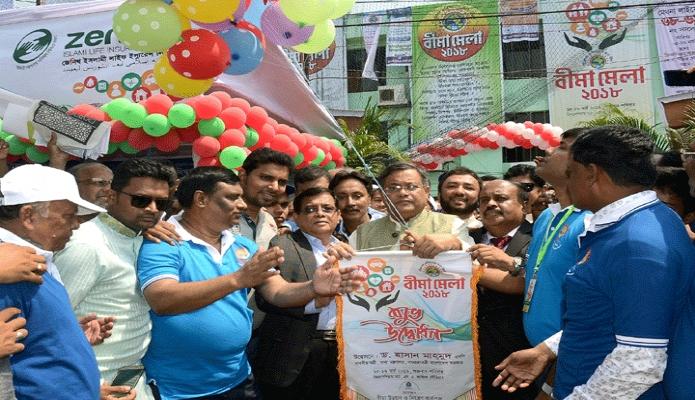 শুক্রবার তথ্যমন্ত্রী ড. হাছান মাহমুদ চট্রগামে জিমনেশিয়াম মাঠে দুই দিনব্যাপী বীমা মেলা-২০১৮ এর উদ্বোধন করেন -পিআইডি