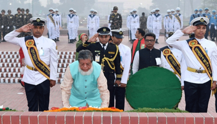 মঙ্গলবার ডেপুটি স্পিকার অ্যাডভোকেট ফজলে রাব্বি মিয়া মহান স্বাধীনতা ও জাতীয় দিবসে সাভারে জাতীয় স্মৃতিসৌধে পুষ্পস্তবক অর্পণ করেন -পিআইডি