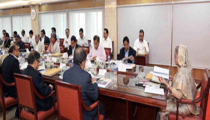 সোমবার প্রধানমন্ত্রী শেখ হাসিনা বাংলাদেশ সচিবালয়ে মন্ত্রিপরিষদ বৈঠকে সভাপতিত্ব করেন-পিআইডি