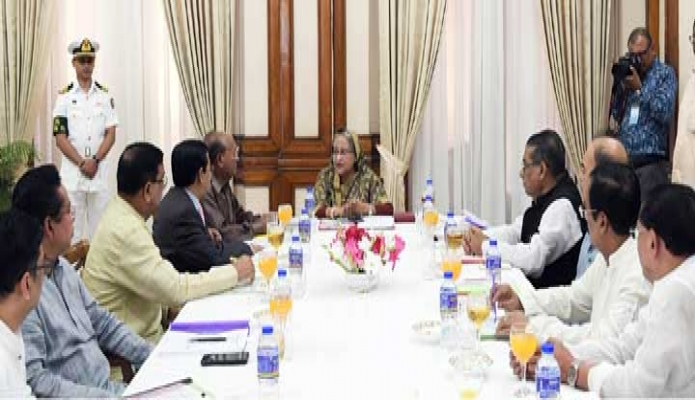 বুধবার প্রধানমন্ত্রী শেখ হাসিনা ঢাকায় গণভবনে স্থানীয় সরকার নির্বাচন মনোনয়ন বোর্ডের সভায় সভাপতিত্ব করেন -পিআইডি