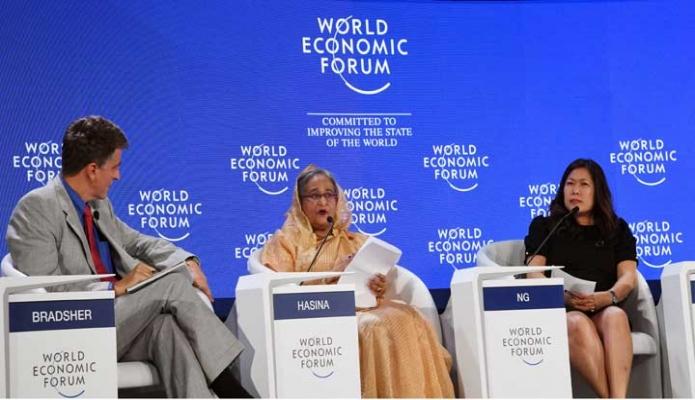 মঙ্গলবার চীন সফরত প্রধানমন্ত্রী শেখ হাসিনা দালিয়ান আন্তর্জাতিক কনফারেন্স সেন্টারে 'Cooperation in Pacific Rim, শীর্ষক প্যানেল আলোচনায় অংশগ্রহণ করেন -পিআইডি