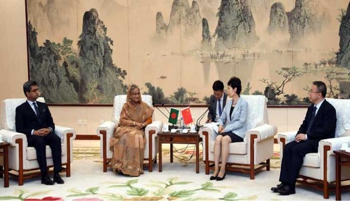 বৃহস্পতিবার প্রধানমন্ত্রী শেখ হাসিনার সাথে বেইজিং-এর China Council for the Promotion of  International Trade - এর চেয়ারপার্সন Gao Yan  সাক্ষাৎ করেন-পিআইডি