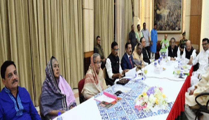 শনিবার প্রধানমন্ত্রী শেখ হাসিনা ঢাকায় গণভবনে বাংলাদেশ আওয়ামী লীগের কেন্দ্রীয় কার্যনির্বাহী সংসদের সভায় সভাপতিত্ব করেন -পিআইডি