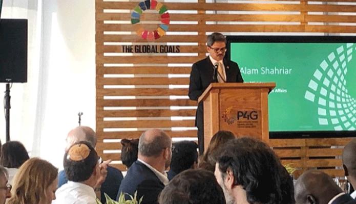 মঙ্গলবার পররাষ্ট্র প্রতিমন্ত্রী শাহরিয়ার আলম নিউইয়র্কে The Global Goals 2030  শীর্ষক সেমিনাওে বক্তব্য রাখেন -পিআইডি