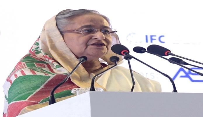 বুধবার প্রধানমন্ত্রী শেখ হাসিনা ঢাকায় বঙ্গবন্ধু আন্তর্জাতিক সম্মেলন কেন্দ্রে !Banglades Leather Footwear and Leathegoods International Sourcing Show 2019! এর উদ্বোধন অনুষ্ঠানে প্রধান অতিথির বক্তৃতা করেন -পিআইডি