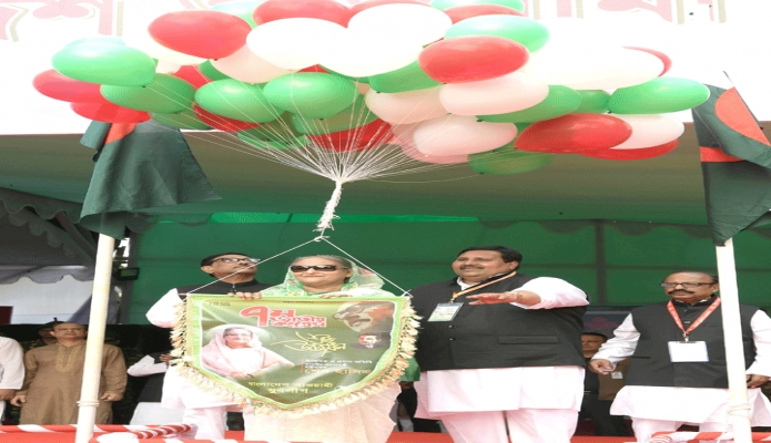 শনিবার প্রধানমন্ত্রী শেখ হাসিনা ঢাকায় সোহরাওয়ার্দী উদ্যানে বাংলাদেশ আওয়ামী যুবলীগের ৭ম জাতীয় কংগ্রেস ২০১৯ এর উদ্বোধন করেন -পিআইডি