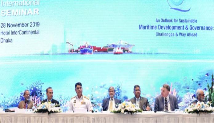 বৃহস্পতিবার পরিকল্পনামন্ত্রী এম এ মান্নান ঢাকায় হোটেল ইন্টারকন্টিনেন্টালে  !An Outlook for Sustainable Maritime Development and Governance: Challenges and Way Ahead ! শীর্ষক আন্তর্জাতিক সেমিনাওে অংশ নেন -পিআইডি
