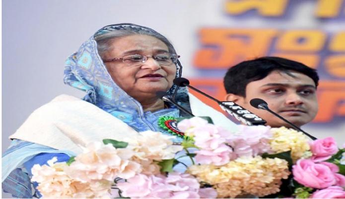 শনিবার প্রধানমন্ত্রী শেখ হাসিনা ঢাকায় সোহরাওয়ার্দী উদ্যানে বাংলাদেশ ছাত্রলীগের প্রতিষ্ঠাবার্ষিকী ও পুনর্মিলনী অনুষ্ঠানে বক্তৃতা করেন -পিআইডি
