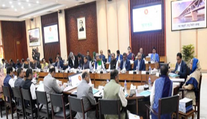 মঙ্গলবার প্রধানমন্ত্রী শেখ হাসিনা ঢাকায় শেরেবাংলা নগরে এনইসি সম্মেলন কক্ষে জাতীয় অর্থনৈতিক পরিষদের নির্বাহী কমিটি (একনেক) এর সভায় সভাপতিত্ব করেন -পিআইডি