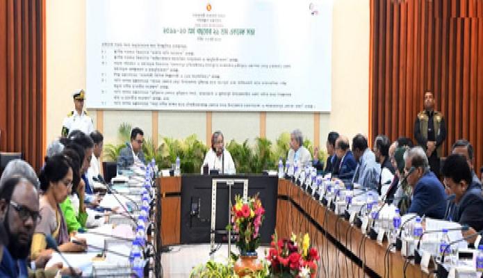 মঙ্গলপ্র ধানমন্ত্রী শেখ হাসিনা ঢাকায় শেরেবাংলা  নগরে এনইসি সম্মেলন কক্ষে জাতীয় অর্থনৈতিক পরিষদের নির্বাহী কমিটি (একনেক) এর সভায় সভাপতিত্ব করেন -পিআইডি