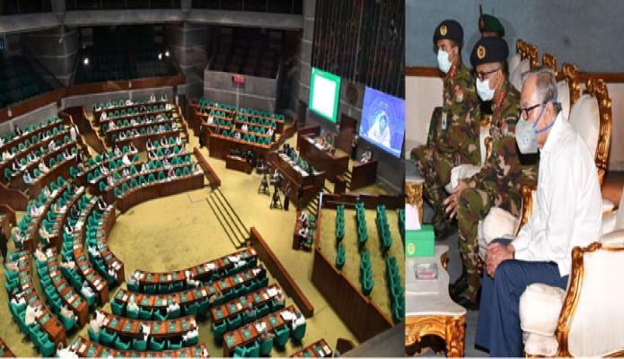 শনিবার রাষ্ট্রপতি মোঃ আবদুল হামিদ জাতীয় সংসদের ৭ম অধিবেশন অবলোককন করেন -পিআইডি