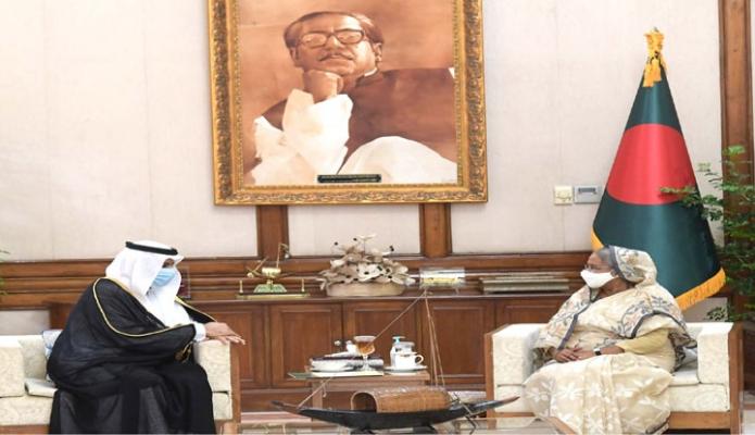 বৃহস্পতিবার প্রধানমন্ত্রী শেখ হাসিনার সাথে গণভবনে সৌদি আরবের রাষ্ট্রদূত Essa Bin Yousef Al-Duhailan সাক্ষাৎ করেন - পিআইডি