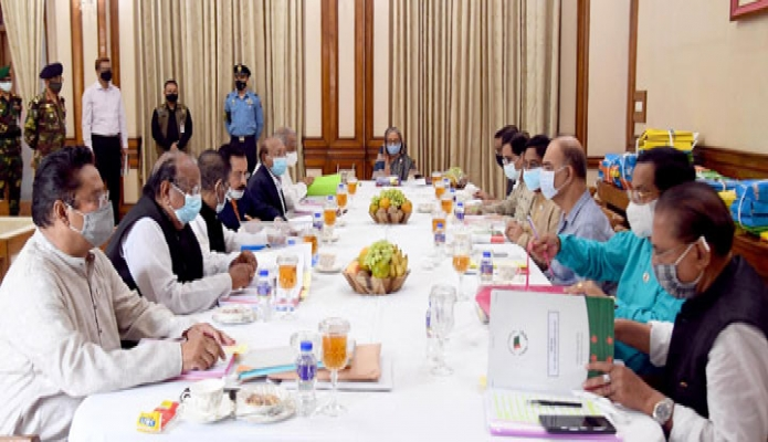 শনিবার প্রধানমন্ত্রী শেখ হাসিনা গণভবনে বাংলাদেশ আওয়ামী লীগের 'সংসদীয় মনোনয়ন বোর্ড' এবং স্থানীয় সরকার জনপ্রতিনিধি মনোনয়ন বোর্ড' এর যৌথসভায় সভাপতিত্ব করেন -পিআইডি