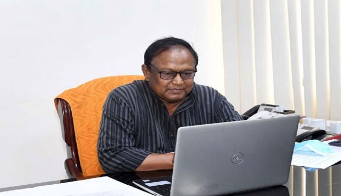 বুধবার বাণিজ্যমন্ত্রী টিপু মুনশি '১ম জাতীয় চা দিবস-২০২১' উদ্যাপন উপলক্ষ্যে ভার্চুয়ালি প্রেস ব্রিফ করেন -পিআইডি
