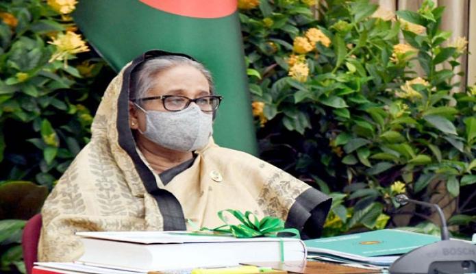 মঙ্গলবার প্রধানমন্ত্রী শেখ হাসিনা গণভবন থেকে ভিডিও কনফারেন্সের মাধ্যমে শেরেবাংলা নগরের এনইসি সম্মেলনকক্ষে অনুষ্ঠিত একনেক সভায় সভাপতিত্ব করেন -পিআইডি