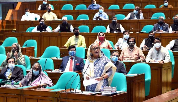 বৃহস্পতিবার প্রধানমন্ত্রী শেখ হাসিনা একাদশ জাতীয় সংসদের ১৪তম অধিবেশনে সমাপনী বক্তব্য রাখেন -পিআইডি