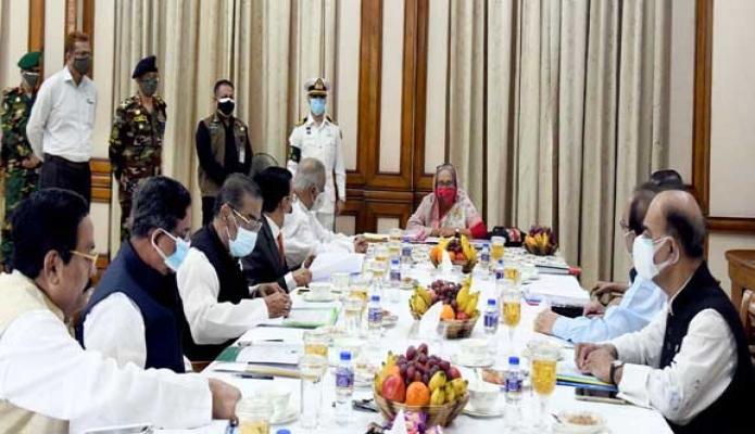 বৃহস্পতিবার প্রধানমন্ত্রী শেখ হাসিনা গণভবনে 'বাংলাদেশ আওয়ামী লীগের সংসদীয় বোর্ড ও স্থানীয় সরকার জনপ্রতিনিধি মনোনয়ন বোর্ড'-এর সভায় সভাপতিত্ব করেন -পিআইডি