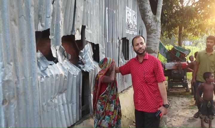 কালুখালীতে উপজেলা নির্বাচন পরবর্তী সহিংসতায় ঘরবাড়ি ভাংচুর