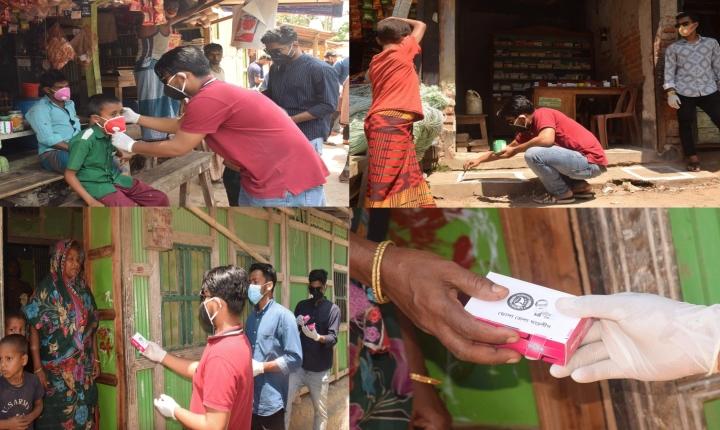 ভোলায় করোনা সংক্রমণ রোধে সামাজিক সচেতনতায় ছাত্রলীগ