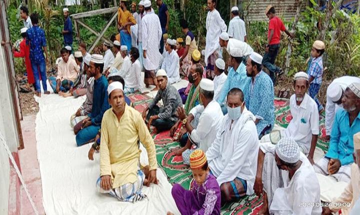 পিরোজপুরের মঠবাড়িয়ায় ৬ গ্রামের ঈদ উদযাপন
