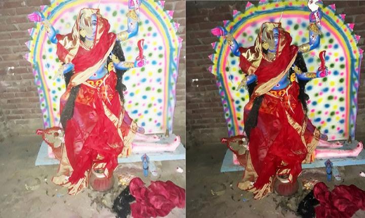পাবনায় কালী মন্দিরের প্রতিমা ভাঙচুর